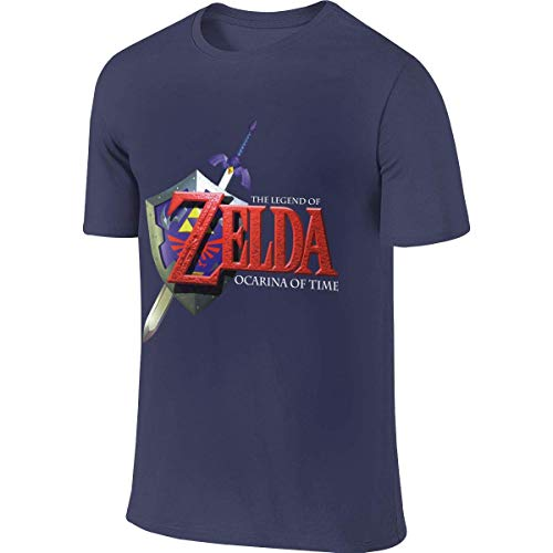 Men Personalized Classic Tees Game The Legend of Zelda Logo Ocarina of Time T Shirt Camisetas y Tops(X-Large)