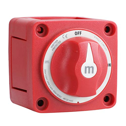 #N/a Interruptor de batería marina 6006 Serie M On/Off 300 Amp IP66 impermeable-rojo, accesorios profesionales