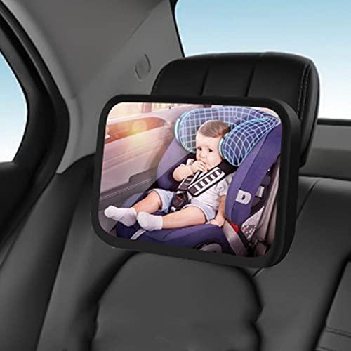 UTOBY Rücksitzspiegel 360° schwenkbar Baby Autospiegel Rücksitzspiegel für eine Sichere Fahrt bruchsicherer Spiegel für Auto Baby, Baby Erstausstattung & Auto-Zubehör
