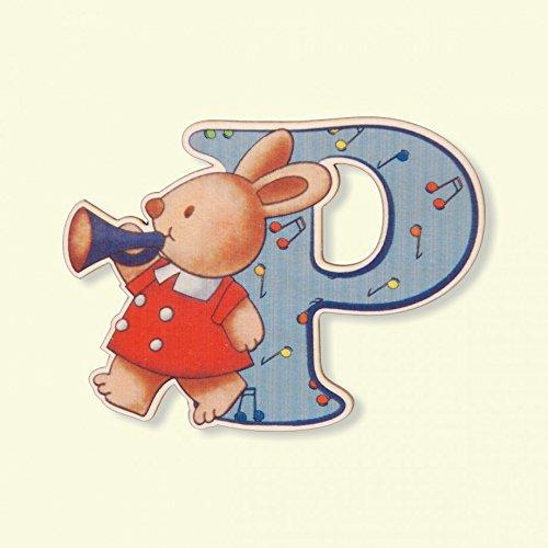 Dida - Lettre P Bois Enfant - Lettres Alphabet Bois pour Composer Le nom de Votre bébé et décorer la Chambre