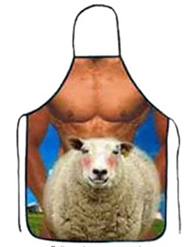 Funny Comics Cute Cartoon Kitchen Cooking Adult Apron for Birthday Gift (sheep)