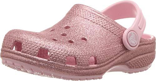 Crocs Crocband Classic Glitter Clog K, blossom, 10 M US Toddler