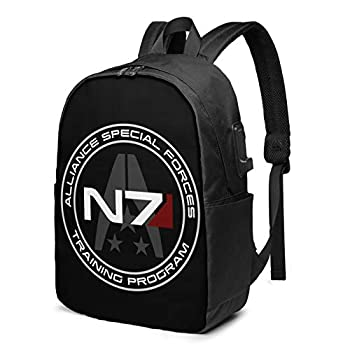 NBVGFV Ma_ss Eff_ect N7 Durable Laptop Backpack Travel Backpacks Bookbag with USB Charging Port
