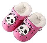 CELANDA Zapatillas de Invierno para Niños Zuecos Cálidas Niñas Pantuflas de Jardín Ultraligeros y Antideslizantes Sandalias de Playa Zapatos Forro Extraíble