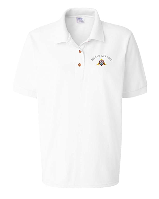 Custom Women Polo Shirts Sport Bowling King Queen Logo Embroidery Business Cotton Golf Shirt for Women - White, 2X Large Personalized Text Here