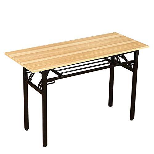 DunShan Klapptisch Computertisch Schreibtisch Konferenztisch Einfacher Klapptisch Rechteckiger Trainingstisch Gelbe Holzmaserung Farbe