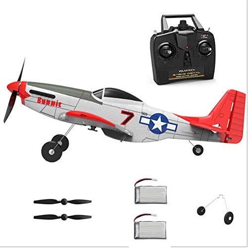 WQSFD Mini Flugzeug ferngesteuertes Kampfjet 4 Kanäle 2.4 GHz Fernbedienung 6-Achsen Gyro Flugzeug Spielzeug RTF Auto Gyro Stabilization,für Anfänger zu fliegen RC