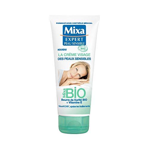 Mixa BIO - La Crème Visage Des Peaux Sensibles - 100 ml - Lot de 1