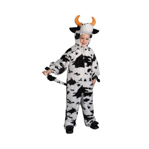 Dress Up America Costume da Halloween per bambini in costume da peluche della mucca della peluche dei bambini unisex
