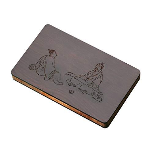 Titular De La Tarjeta De Los Titulares De Tarjeta De Mujeres Negocio Tarjetero De Madera Carpeta De La Tarjeta De Negocios (Color : Brown, Size : 10 * 6 * 1.1cm)