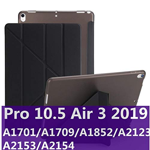 Silicone Case For Ipad Pro 10.5 New Ipad 9.7 Inch 2017 2018 Tpu Back Case Magentic Smart Cover For Ipad Air 2 Air 1 Air 3 Case-AIr3 10.5black
