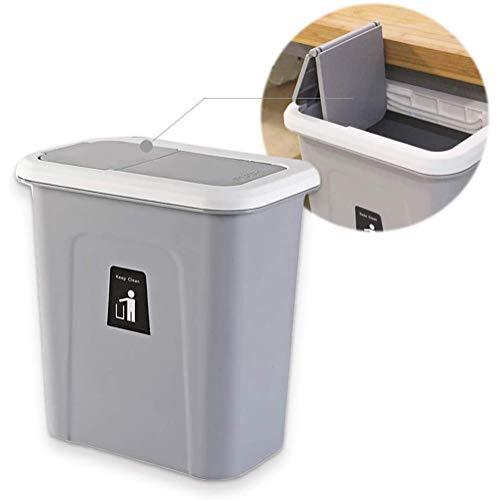 Opknoping trash, ur trash, kast prullenbak, keuken afval, afvalbakken Multi-Kitchenbox, push-Top Trash Can Hangende,Gray