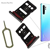 iSkyce Tiroir Plateau Nano Sim et Carte SD pour Téléphone Huawei P30 Pro Noir,...