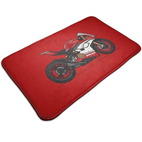 FETEAM Ducati Panigale V4 Speciale rutschfeste Badematte, waschbare Tür Boden Teppich Küchenteppiche Willkommen Matten