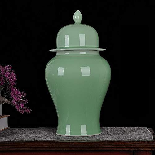 Blommig tempel ingefära burk vaser Kina Ming Style temple burkvas för heminredning vardagsrum kontor dekorativ vas F H 49 x B 24 cm