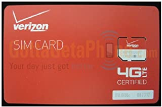Verizon Wireless 4G LTE Certified Micro SIM Card 3FF