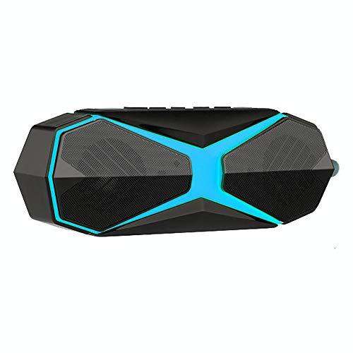 Bluetooth Lautsprecher Wasserdicht und Anti-Moskito, Wireless Lautsprecher Freisprechfunktion, Tragbarer Intelligenter Lautsprecher Intensiver Bass 360-grad-surround Stereo Sound,Blau