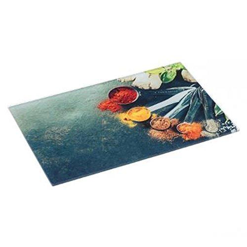 """Five Simply Smart – Tabla de cortar cristal """"Epices"""" 30 x 40 cm, multicolor"""