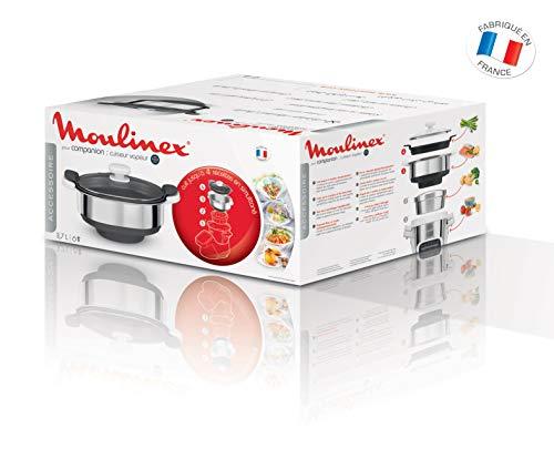 Moulinex Cuiseur Vapeur XF384B10 Accessoire Companion Officiel Bol Collecteur Jus Compatible avec Tous les Robots Cuisine Companion