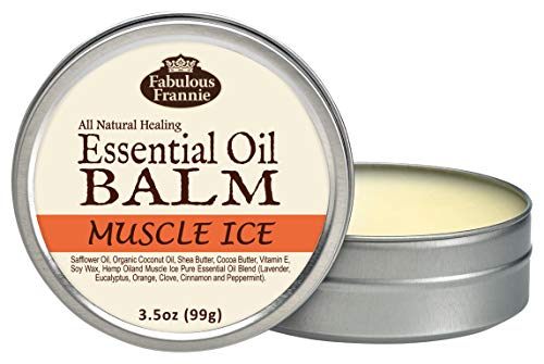 Fabulous Frannie Muscle Ice All Natural Essential Oil Healing Balm made with Organic Coconut Oil, Shea Butter, Cocoa…