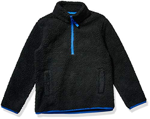 Amazon Essentials Quarter-Zip High-Pile Polar Fleece Jacket Outerwear-Jackets, Negro, S