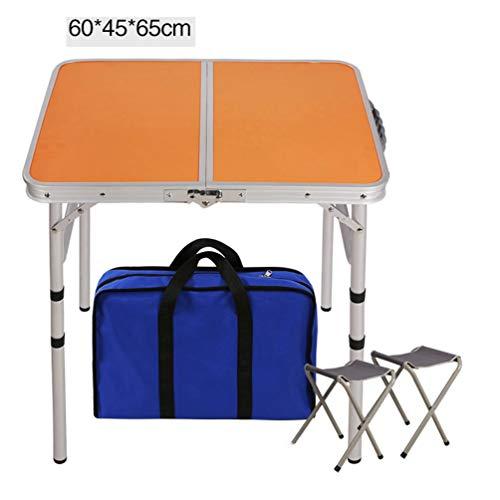 JHTRY Aluminium Picknick Vouwtafel, Opvouwbare Kruk, Draagtas, Computer Bureau Waterdicht voor Indoor Outdoor Camping Reizen Vissen