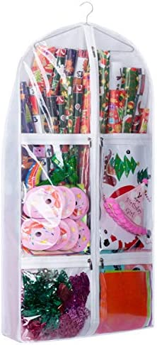 KIMBORA Double Sided Wrapping Paper Holder 4 4 Gusseted Gift Organizer Storage with 5 Large product image