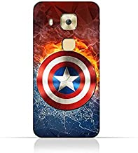 Huawei G9 Plus TPU Silicone Protective Case with Shield of Captain America Design