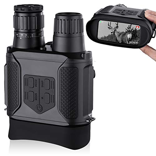 "Digital Night Vision Binoculars, Take Photos & Videos - 3.5-7x31mm Infrared Spy Gear 850nm IR - 4"" Large Screen 1300ft Viewing Range with 32G Memory Card for Hunting & Surveillance"