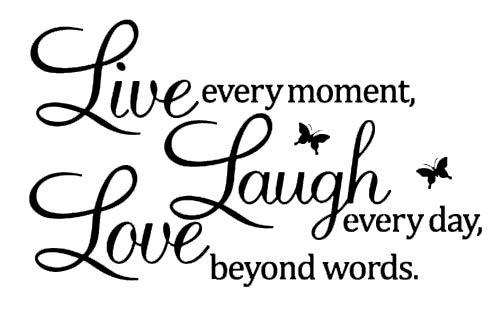 CCI Live Laugh Love Butterflies Decal Vinyl Sticker|Cars Trucks Vans Walls Laptop| Black |7.5 x 4.5 in|CCI1145