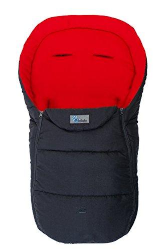 AltaBeBe AL2450D - 23 Sommerfußsack für Kinderwagen, 12-36 Monate, schwarz/rot