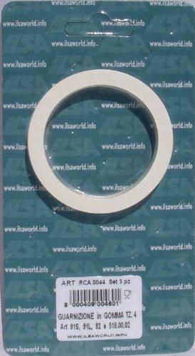Ilsa RCA0044 Dichtungsringe (3 Stk.) für Espressokocher 91S, 91L, 92, 92N für 4 Tassen