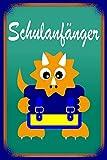 [page_title]-Notizbuch Schulanfänger Dinosaurier mit Schulmappe DIN A5 120 Seiten liniert: Schreibblock Schule schreiben lernen Geschenk für Jungen