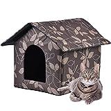 NIQIU Casa para mascotas al aire libre Productos para mascotas Caliente Impermeable Gatito Casa Perro Refugio Extraíble Lavable Extraíble Gato Extraíble Cueva-L, Francia