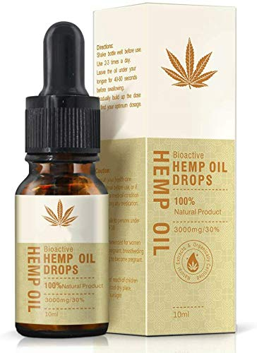Organic Hemp Seed Oil - 30% (3000mg) Organic Ultra Premium Formula - Hemp Oil Drop for Sleep Support,Vegan Friendly (10 ML)