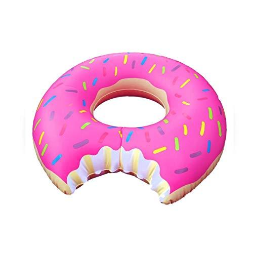 Creative-Donut Float Lustige aufblasbarer Schlauch Durable Jumpo Gigantic Schwimmer für Schwimmen Spaß-Rosa