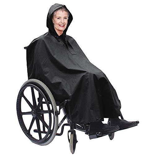 Bramble Poncho para Silla de Ruedas Estándar - Impermeable - A Prueba de Viento - Protección Ideal contra la Lluvia y el Viento - Se Adapta a Todas Las sillas de Ruedas Normales.