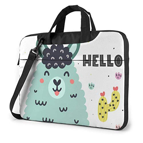 Adults Student Laptop Bag Protective Notebook Computer Protective Cover Handbag Colorful Funny Llama Alpaca Cactus