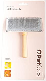 Petface Slicker Brush for Dogs and Cats, Natural