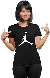 PrintBharat for Women Basketball Design Printed 100% Cotton Half Sleeve Tshirts