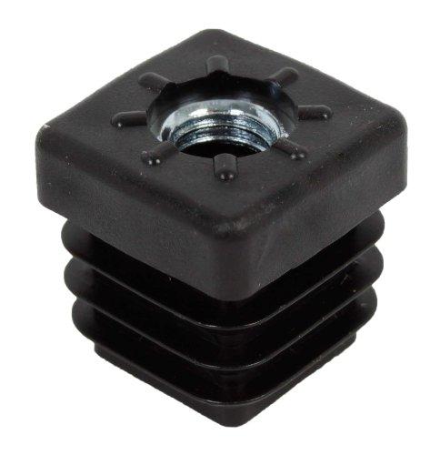 GAH-Alberts 426736 Gewindestopfen | für den Verschluss von Vierkantrohren | Kunststoff, schwarz | Breite 20 mm | Gewinde M8