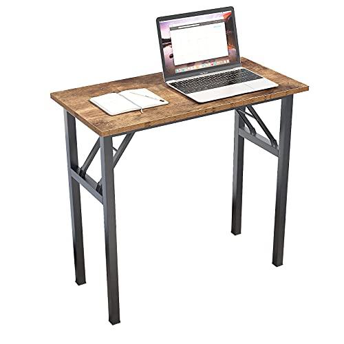 Need Escritorio plegable pequeño para ordenador de madera, mesa de trabajo, mesa de comedor, para casa, oficina, picnic, jardín, 80 x 40 cm, vintage
