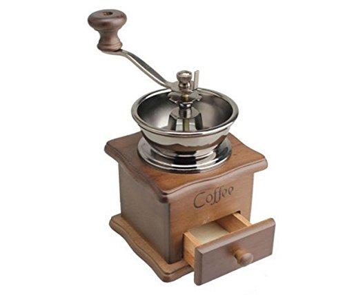 Haoyishang classique en bois manuel Moulin à café à épices ustensile de cuisine de grande qualité avec manivelle