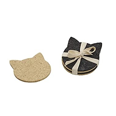 ORE Originals Living Goods Coaster Recycled Rubber Cat Head, 4 Count