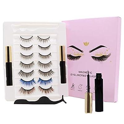 Amazon - Save 15%: 7 Pairs False Eyelashes Magnetic Color, Magnetic Eyelashes Natural Look Sh…