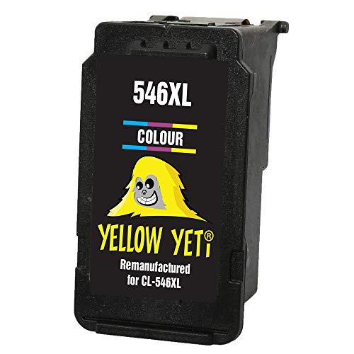 Yellow Yeti CL-546XL CL-545 XL Cartucho de Tinta remanufacturado Color para Canon Pixma MG2450 MG2550 MG2550S MG2555S MG2950 MG3050 MG3051 MG3052 MX495 iP2850 TR4550 TR4551 TS205 TS305 TS3150 TS3151