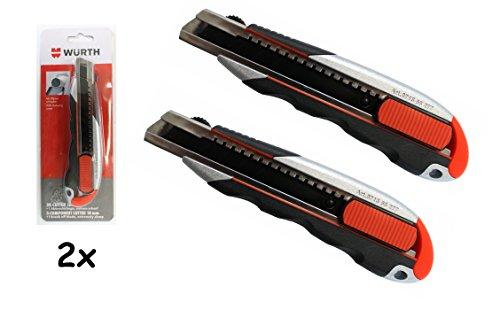 Würth 2x 3K Cutter-Messer mit Schieber und Kingenfixierung 18mm