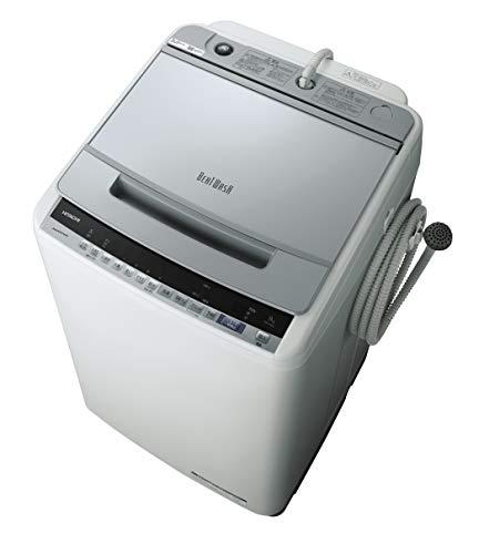 日立 全自動洗濯機 ビートウォッシュ 洗濯容量9kg 本体幅57cm 洗剤セレクト 大流量ナイアガラビート洗浄 BW-V90E S