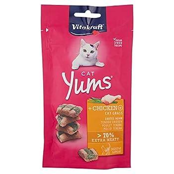 VITAKRAFT Cat Yums - Bouchées moelleuses au poulet et à l'herbe à chat