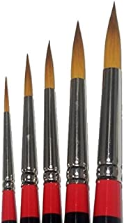 Loew Cornell 5 Piece Ultra Round Brush Set, 7020 Series (Includes Sizes 2, 4, 6, 10, and 12)